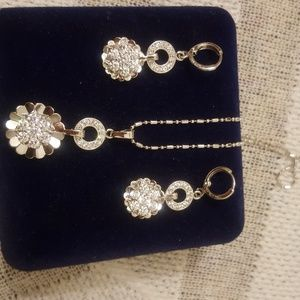 Jewelry - Earrings and necklace silver set